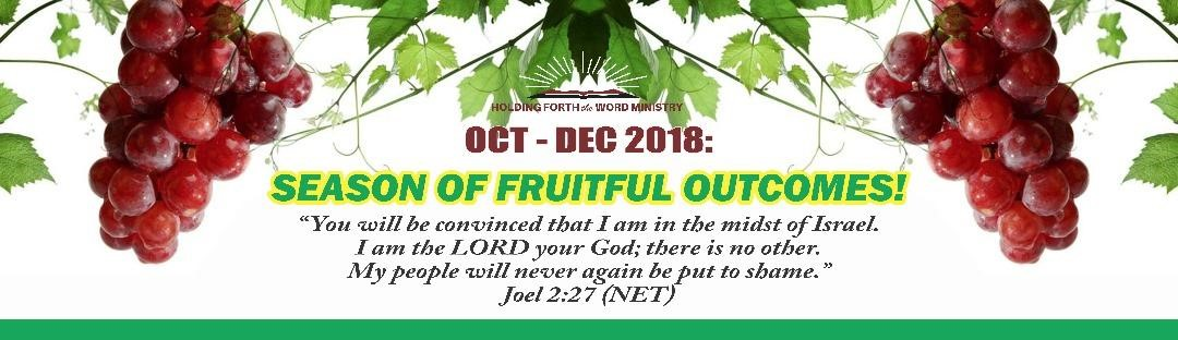 October 18 Banner – Holding Forth The Word Ministries